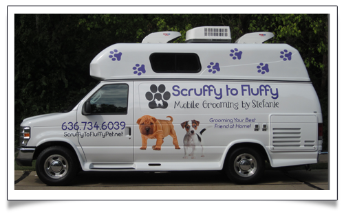 The Scruffy to Fluffy Mobile Dog Grooming Van